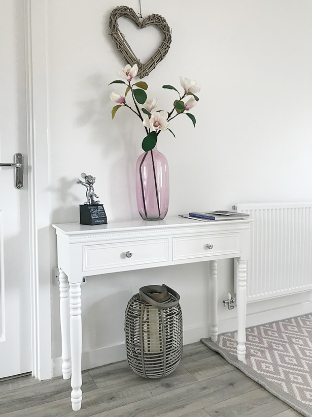 The White Lighthouse New England white console for hallway furniture