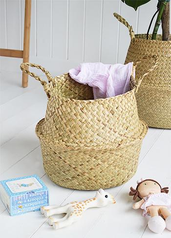 Hove handwonen basket set of 2 natural