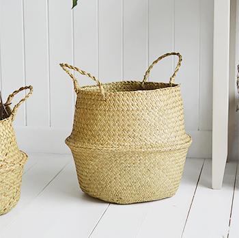 Set Of 2 Belly Baskets Hove Natural Basket Set From The