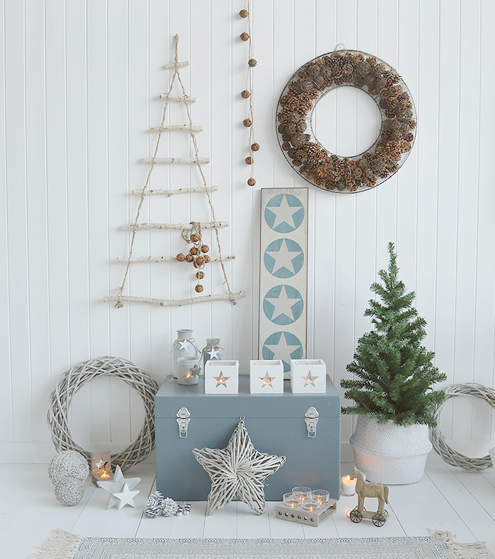 Country Cottage Christmas Decor for New England and White Furniture