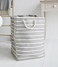 newbury grey storage fabric basket tal large