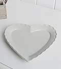 Grey heart trinket plate for dressing table accessory