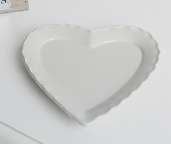 Grey heart trinket plate