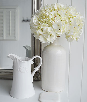 White very realistic white Hydrangea with white for white interior design