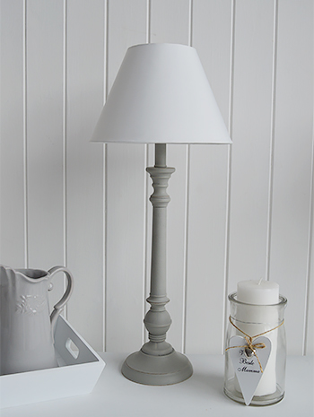 White Home decor accessories - White table lamps