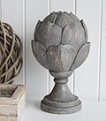 Large Grey Artichoke decorative ornament