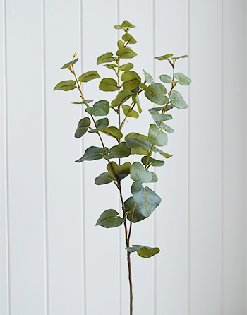 artificial Eucalyptus greenery stem spray simply on its own