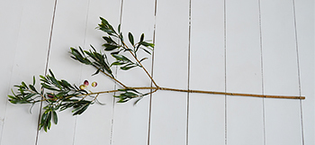 A very realisitic artificial Greenery Olive Tree Branch