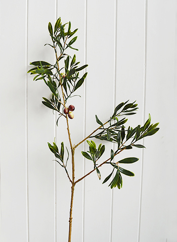 Realistic, artificial Olive Tree Branch