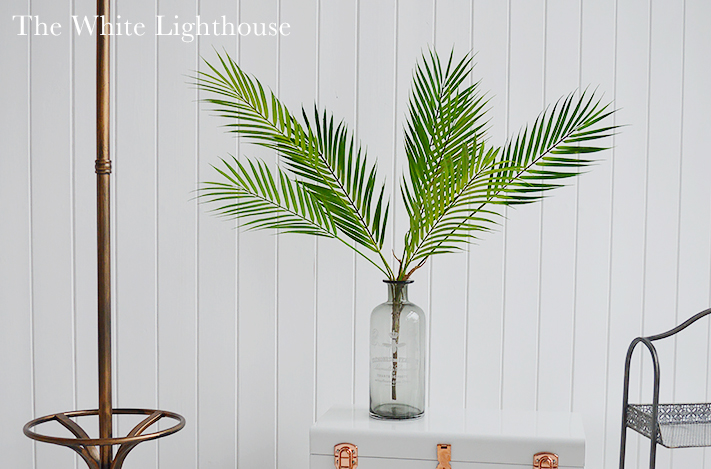 Realistic fine artificial palm form The White Lighthouse Interiors