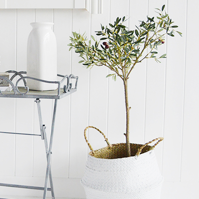 An artificial Olive Tree in a pot
