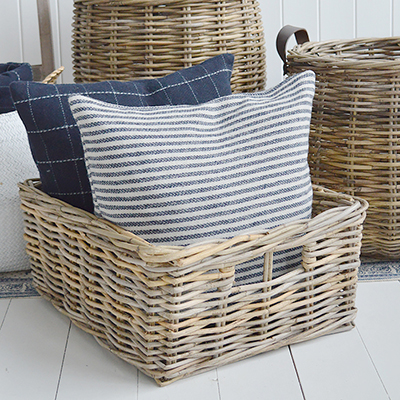 Casco Bay storage basket for adding texture and warmth
