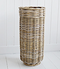 Grey willow umbrella stnad basket