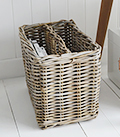 Casco Bay Grey Willow Magazine Basket