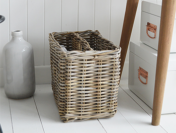 Casco Bay Grey Willow Magazine basket