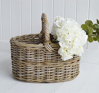 Casco Bay grey willow basket  for flowers