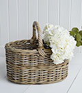 Casco Bay grey willow shopping basket