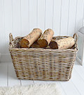 willow storage basket for toys, logs and anything else