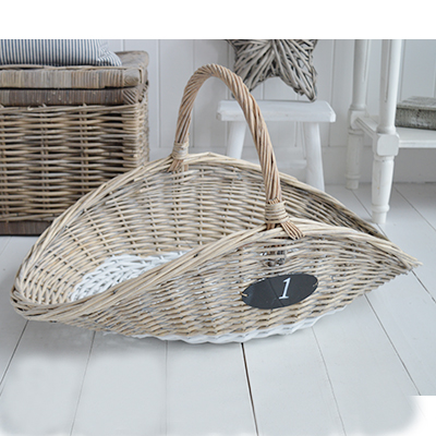 Woodmont grey and white basket