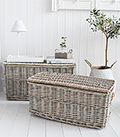 Set of 2 baskets with lide