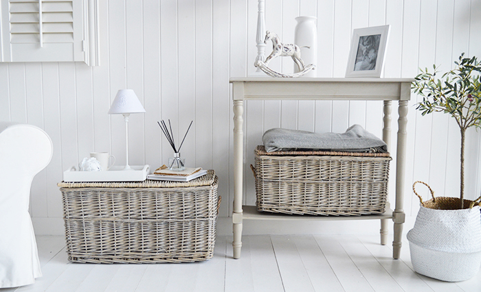 Windsor set of baskets for coastal interiors and furniture