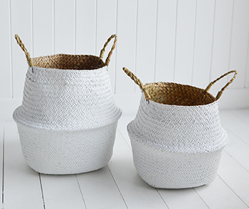 White toy basket sotrage