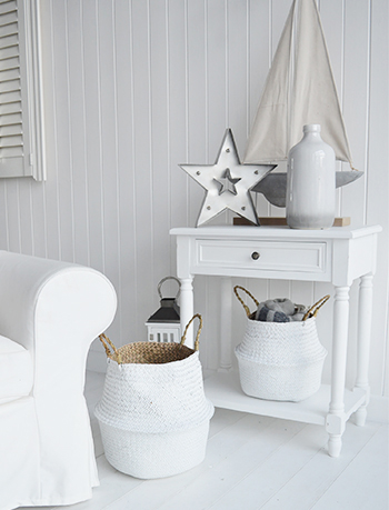 White set of 2 baskets from The White Lighthouse Furniture