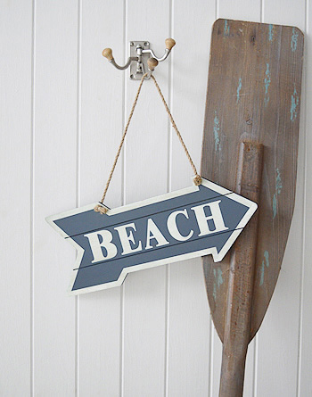 Beach Sign for nautical and coastla home interiors