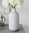 Grey glazed vase