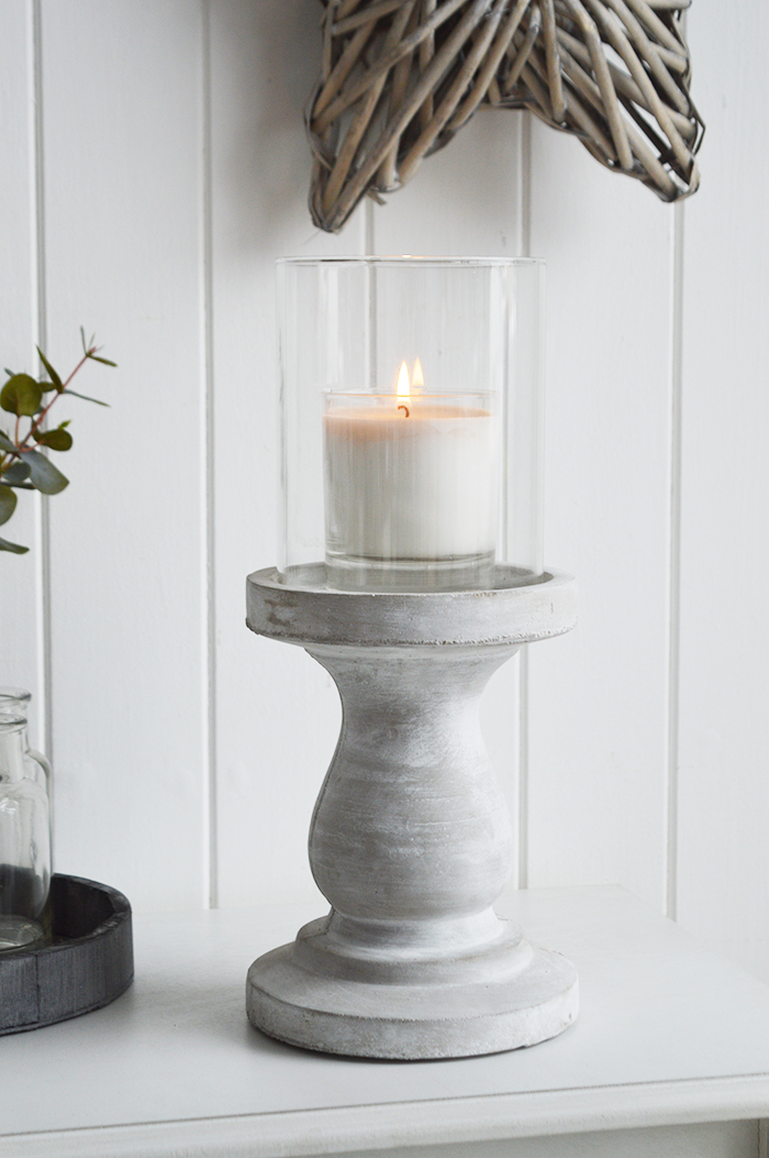 Cement Candle Holder The White Lighthouse Accessories