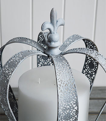 Grey Crown candle holder