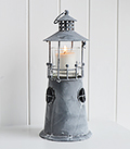Grey Lighthouse Candle Holder