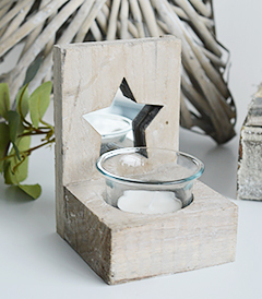 Grey nantucket candle holder from the White Lighthouse New England, Country and coastal furniture