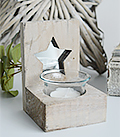 Nantucket Candle Holder - Grey Star - The White Lighthouse Coastal New England Furniture