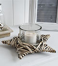 Grey willow star candle holder