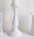 White Wooden CandleStick