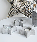 Set of 3 Grey Stone Tea Light Holders from The White Lighthouse New England White Country and Coastal Furniture