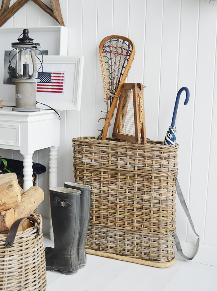 Casco Bay umbrella basket from The White Lighthouse for Hallway furniture