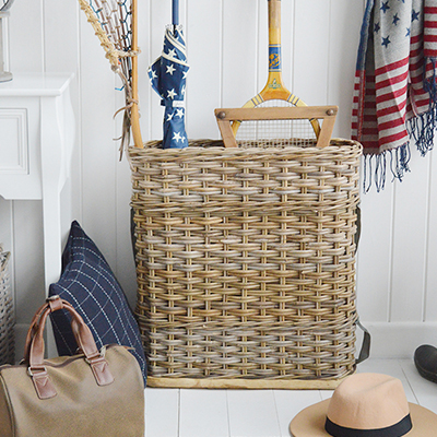 Casco Bay willow umbrella basket for hall storage