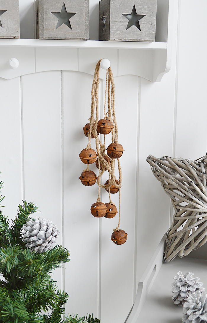 Rusty Bell Garland from The White Lighthouse Furniture and Home Decor for Hallway, Living room, Bedroom and bathroom in New England, Coastal, Country, City and white homes