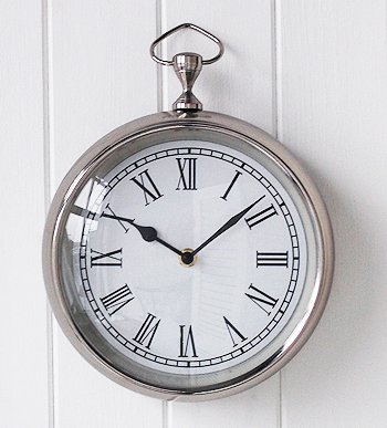 Chrome Wall Clock New England Furniture And Accessories