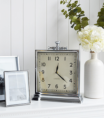 Large square mantle clock