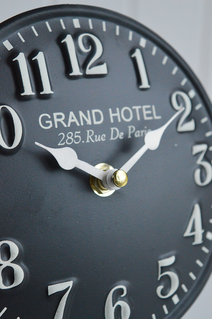 French Vintage Style Mantel Black Clock