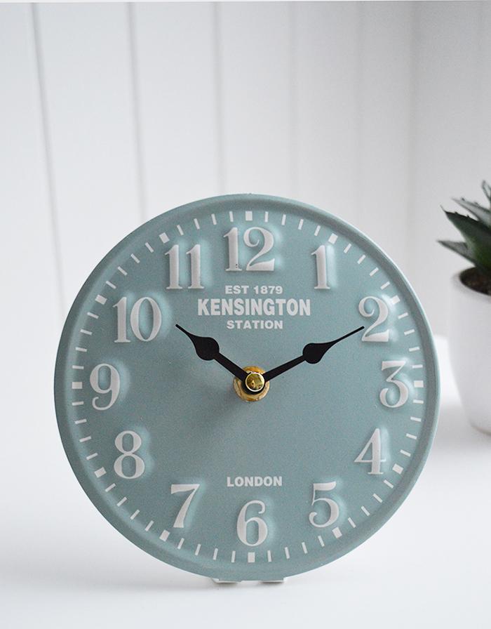 Mantel Clcok Kensington Station London Duck Egg