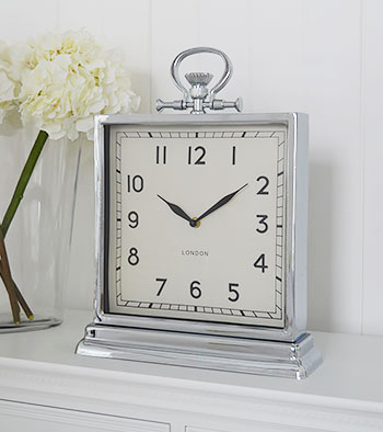 Polished Silver Wall Clock New England Furniture And