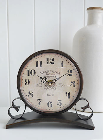 A vintage style clock for table top