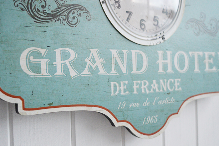 Vintage style french wall clock
