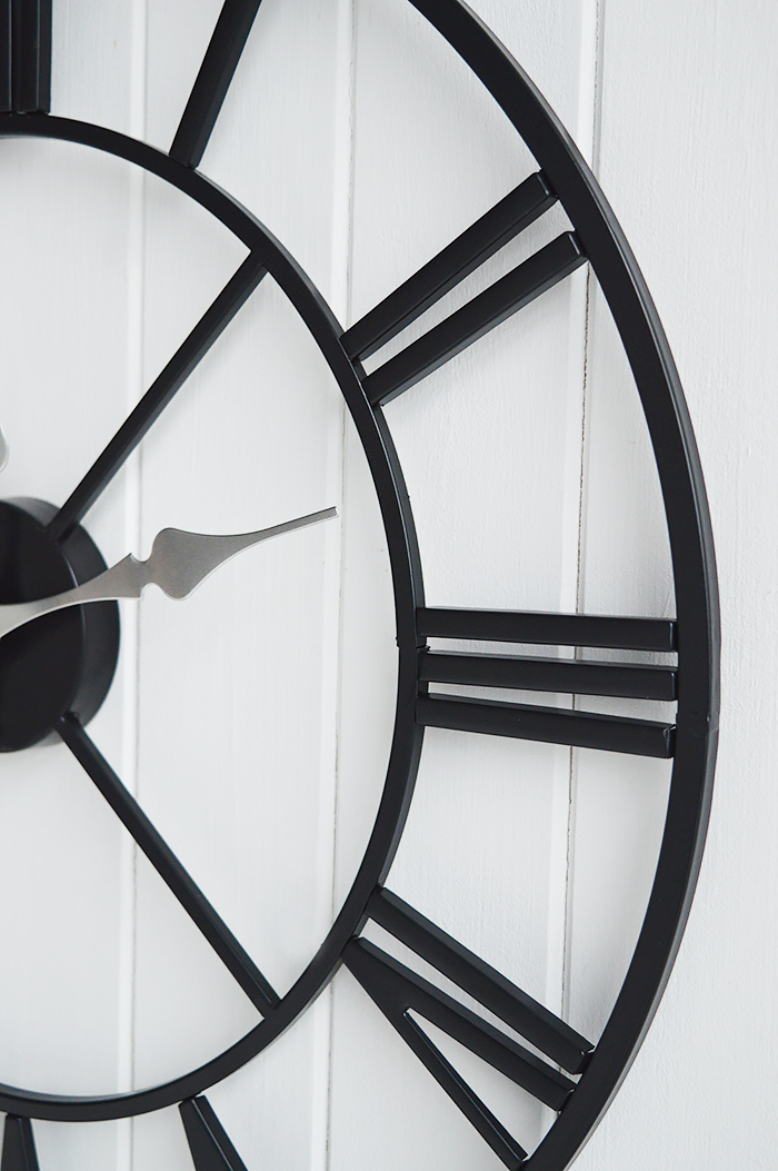 Kensing extra large wall clock frameless in black