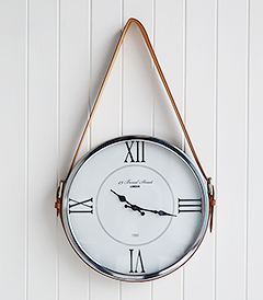 Kensington Silver Belt Wall Clock