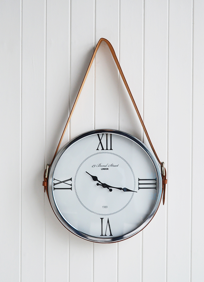 Kensington Silver Luxury wall clock
